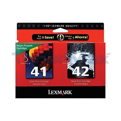 LEXMARK NO. 41 42 INK CTG CMYK COMBO PACK